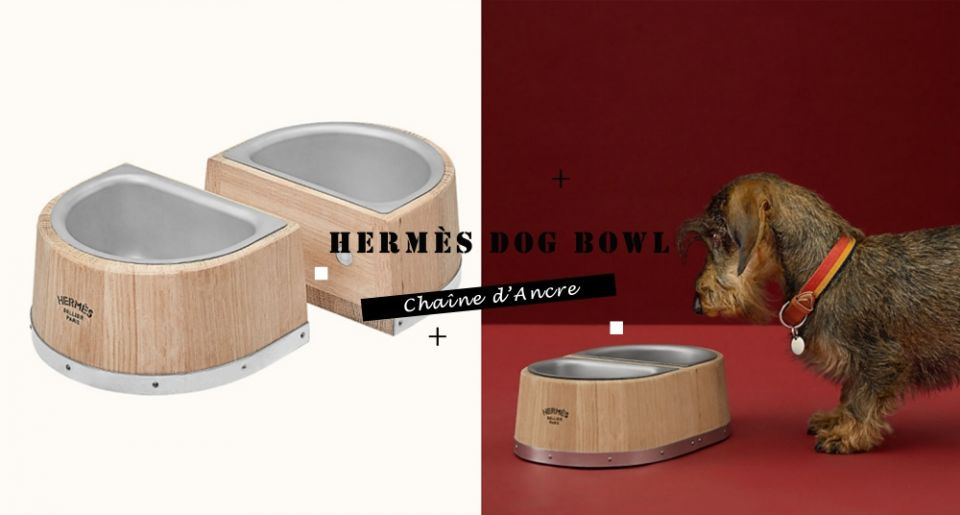 真的是好狗命!Hermès愛馬仕推出「寵物餐碗」要價4萬台幣超驚人,網友:貧窮再度限制了想像~
