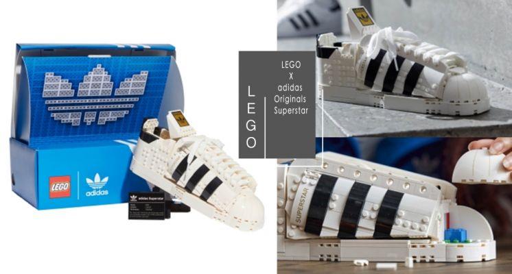 這雙鞋必須收!LEGO X adidas 首推「樂高版 Superstar 」太可愛♡超擬真造型還可以放進專屬鞋盒!