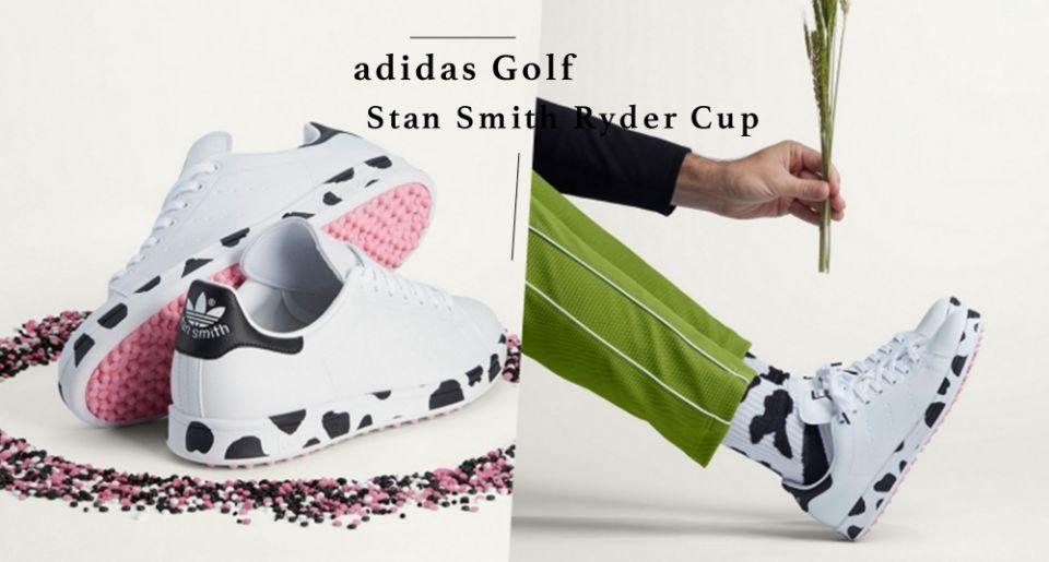 這雙乳牛球鞋太Q!adidas GOLF 打造「乳牛 Stan Smith」,超可愛設計連專屬鞋袋都是乳牛印花!