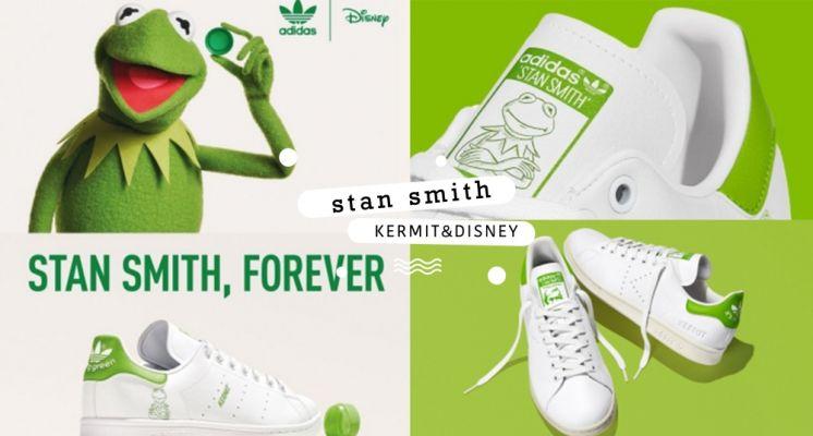 adidas XDisney 這季聯名太可愛!攜手科米蛙、抱抱龍躍上經典Stan Smith,還有超多人氣小角色也加入小白鞋行列啦!