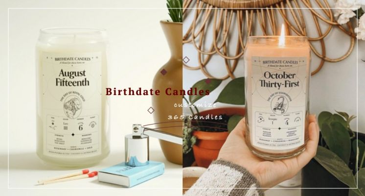 獨一無二的生日專屬香氛蠟燭!美國「Birthdate Candles 」客製蠟燭,365款專屬香氣還有性格分析!