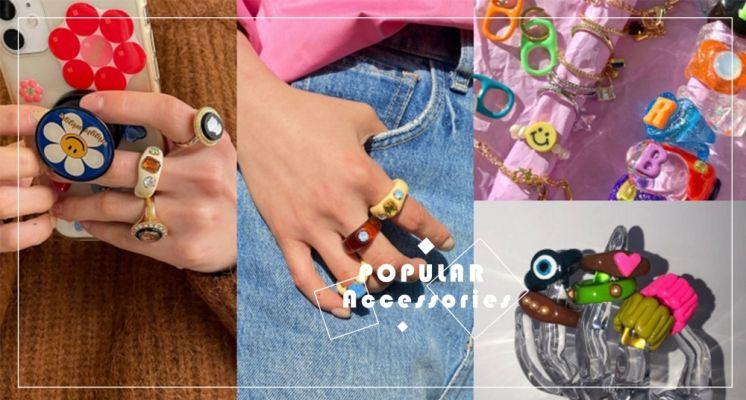 除了金銀色飾品之外的新選擇!韓妞、歐美女生都在戴「樹脂戒指」,繽紛可愛的風格讓你稱霸整個夏天!