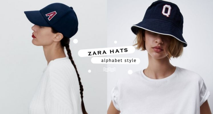 ZARA新款字母老帽賣到大缺貨!美式復古風格+百搭深藍色太好看~還有漁夫帽也必收!