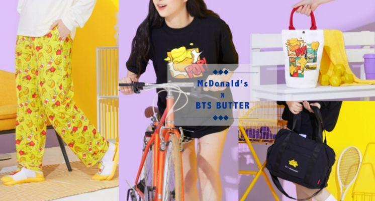 BTS X 麥當勞第二波聯名週邊釋出!美式奶油風格太可愛♡T-Shirt、奶油帆布袋、奶油居家服必須全部買單!