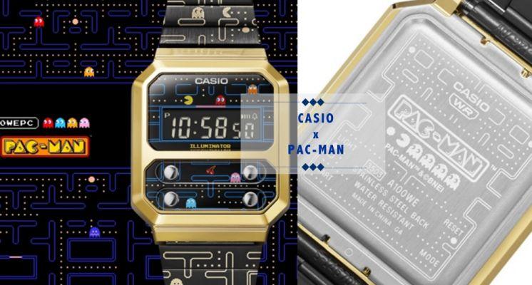 小精靈遊戲變身手錶!CASIO X 小精靈推出復古錶款,豆豆迷宮、彩色小幽靈全都在錶上,實在太可愛♡