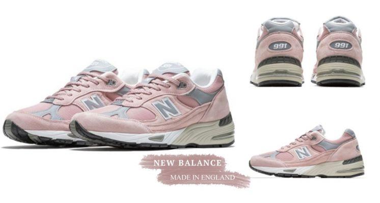 英國製的NB991就是經典!NB春夏全新「Pink/Grey」最新配色登場,低調時髦的配色真的超想擁有啊!