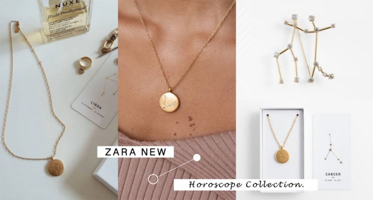 星座項鍊也超美♡ ZARA全新12星座系列項鍊&胸針,鑲上閃閃發亮的水鑽高級質感,必須買!