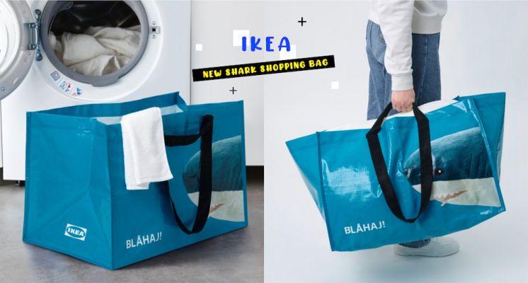 鯊迷們快收!IKEA經典鯊魚玩偶變成購物袋啦~全新超大容量「鯊鯊購物袋」價格超親民,容量大升級!