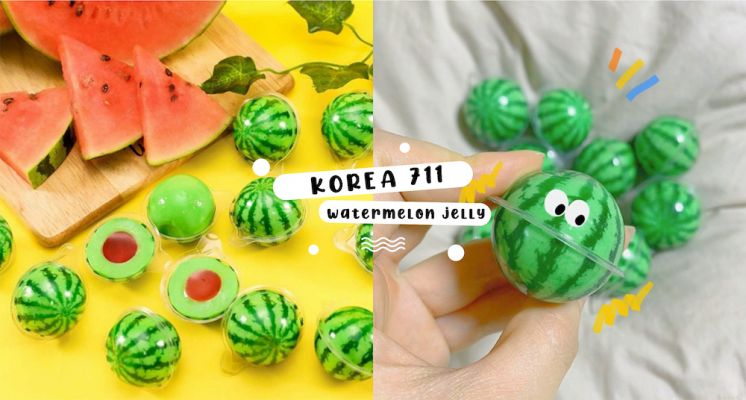 韓國超商軟糖巨可愛!逼真程度爆表「迷你西瓜糖果」,裡面還吃得到酸甜西瓜內餡♡