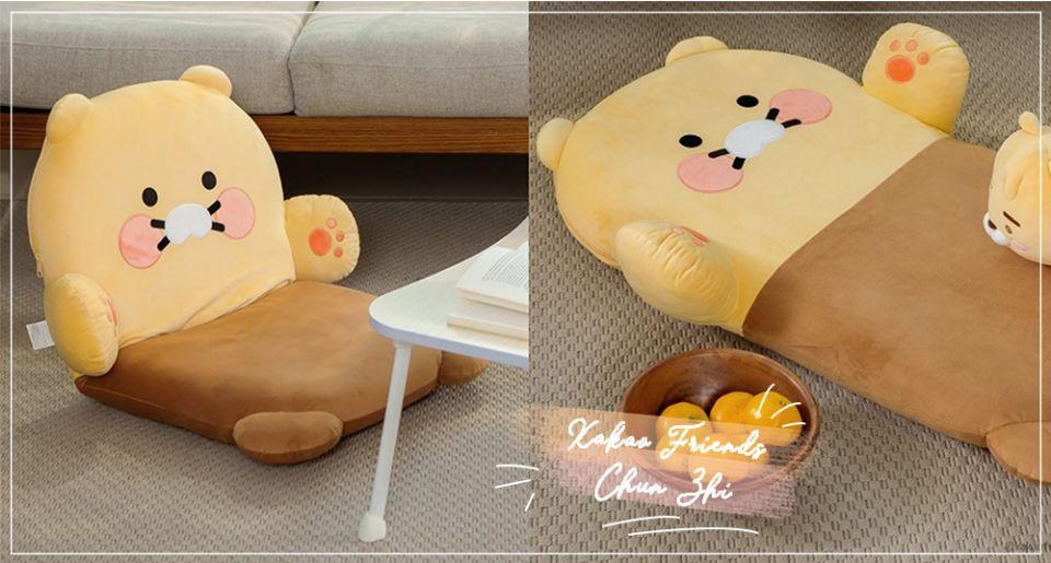 韓國Kakao Friends推「春植懶人小沙發」!萊恩寵物貓「春植」變身居家生活用品、窗簾束帶太欠收~