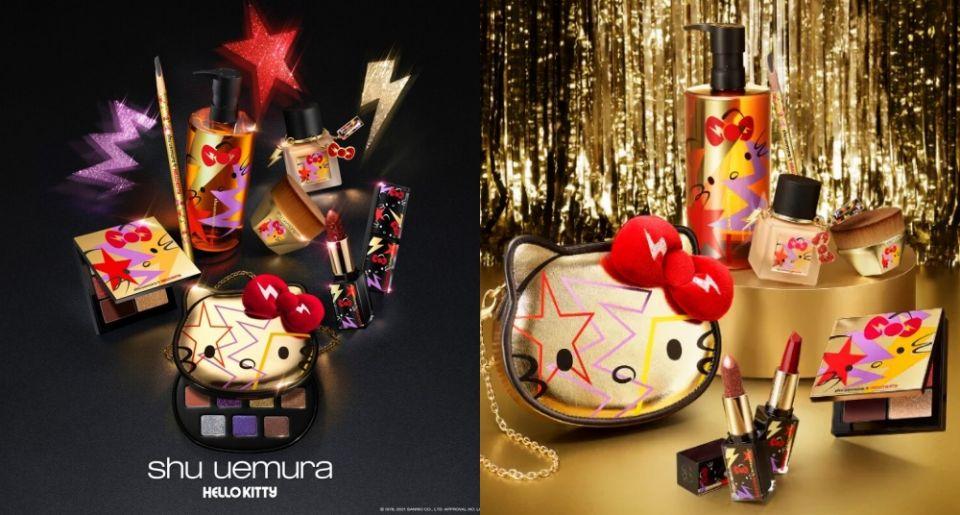 植村秀XHello Kitty推出聯名彩妝!一系列超萌商品想要全包收藏,滿額還有娃娃帶回家!