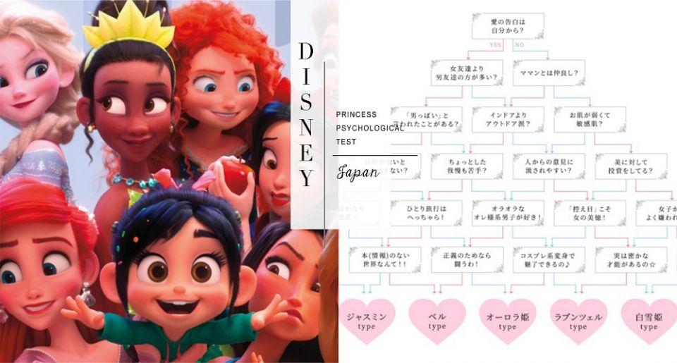 妳最像哪一位迪士尼公主?日本瘋傳戀愛心理測驗,找出戀愛特質、理想對象!