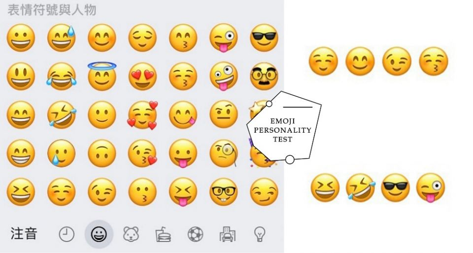超準!國外紅爆的「emoji心理測驗」,從最喜歡的emoji看出你的潛在性格!