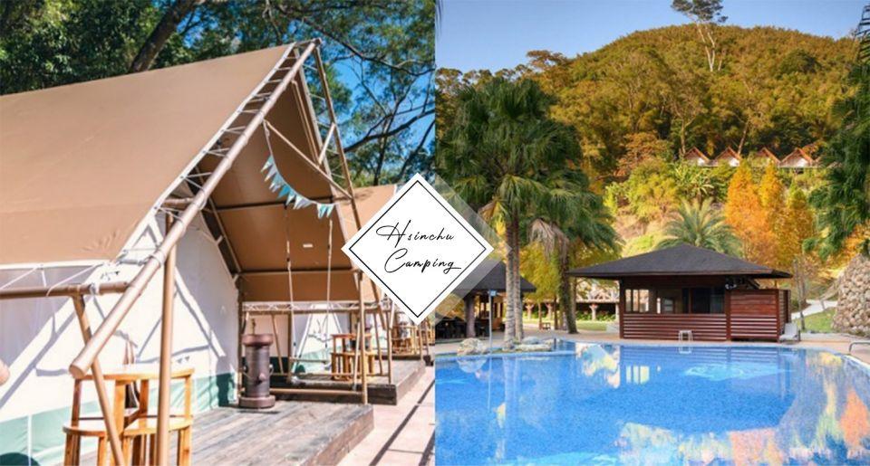 懶人露營首選!新竹豪華露營區「斑比跳跳」超大泳池、星空電影院、一泊四食,全包式渡假在這裡!