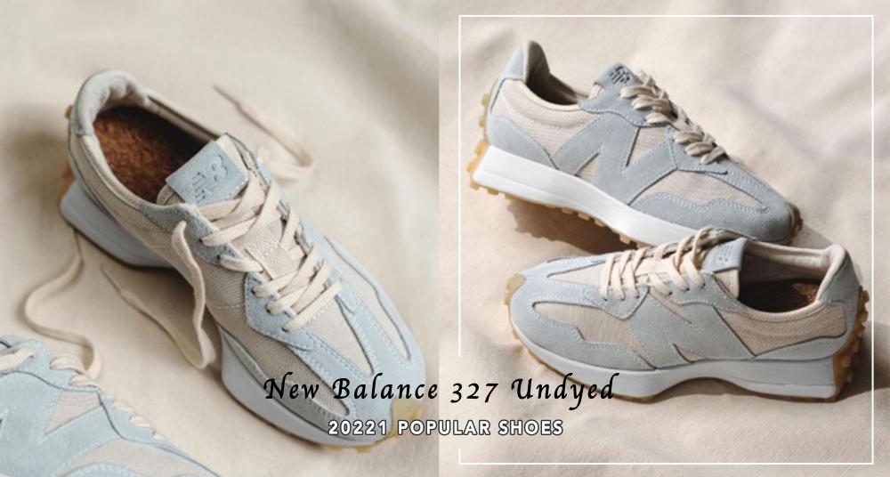 美到冒泡♡NB327 新色即將開賣!燕麥白X灰藍色質感滿分,搭配軟木塞鞋墊舒適度大升級!