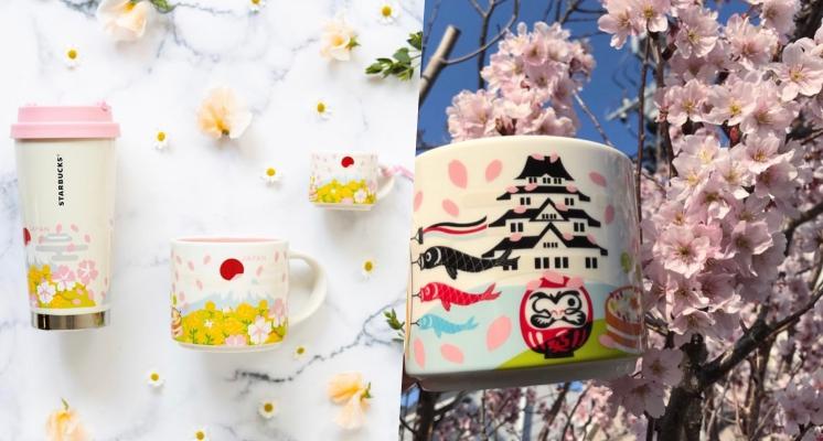 「富士山櫻花雨」馬克杯真的好浪漫♡~日本星巴克再度榨乾少女們的荷包!