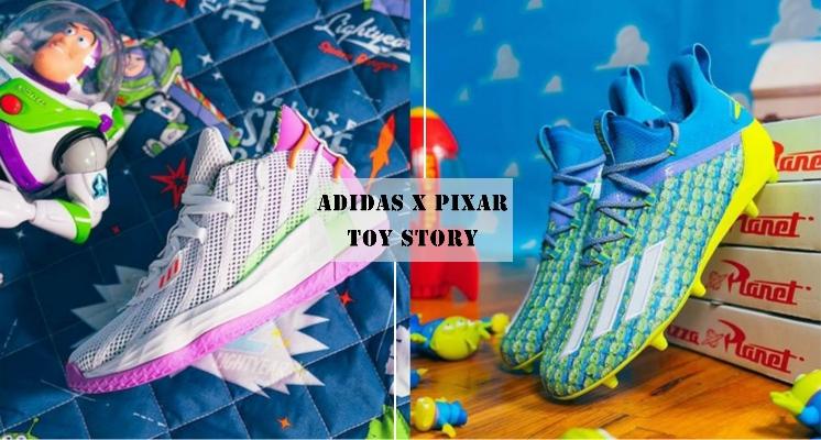 adidas X PIXAR 推出全新「玩具總動員聯名球鞋」,三眼怪足球鞋、抱抱龍球鞋全部都可愛到翻過去♡